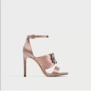Zara Satin High Heels size 8